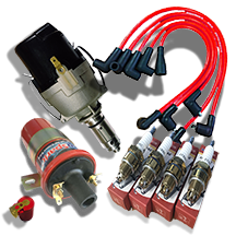 AccuSpark Pack for  Ford X-flow,Electronic Distributor,Standard coil,Red leads